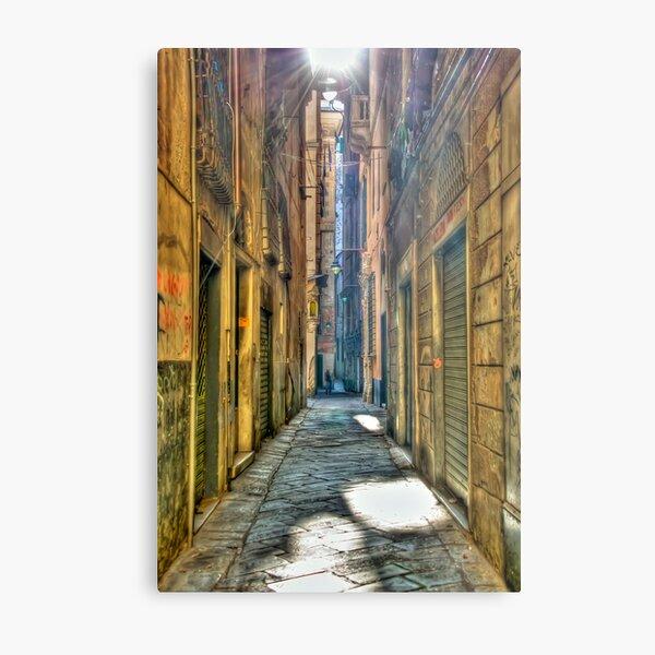 Alley of genoa Metal Print