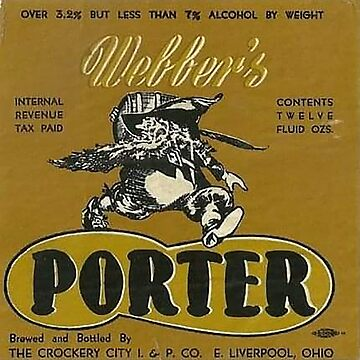 Webber PORTER bottle label by thatstickerguy