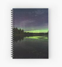 Northern Lights in northern WI Spiral Notebook