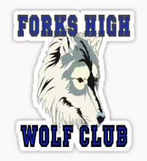 Forks High Wolf Club Twilight Werewolf Sticker