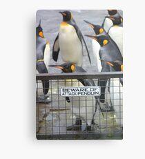 Warning - attack penguins! Metal Print