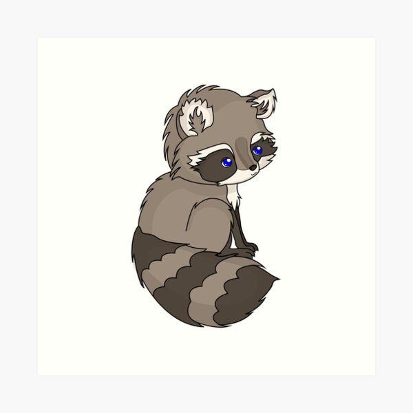 Rocky Raccoon Art Print
