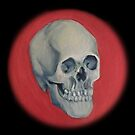 A skull, in crimson by lydiamann