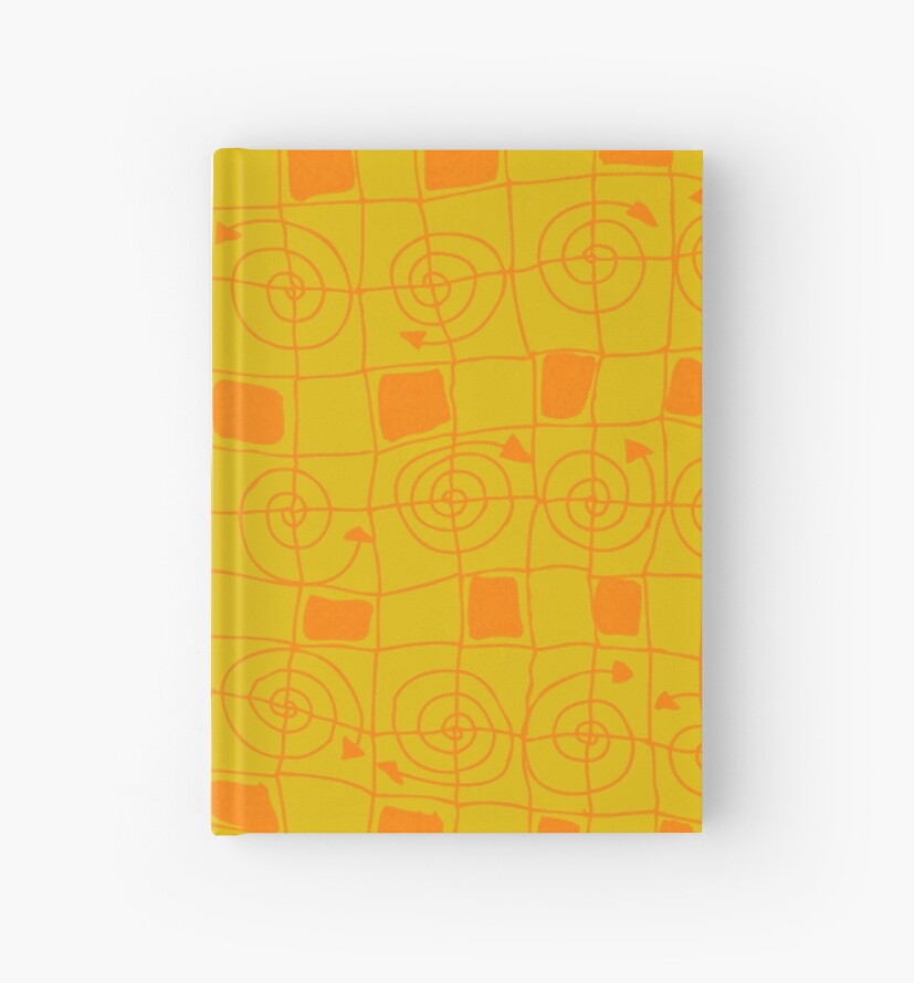 Geometric in Yellow and Orange by ntartworks