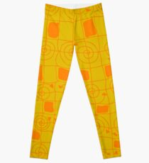 Geometric in Yellow and Orange Leggings