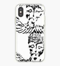 Black & White Abstract Angels iPhone Case