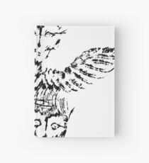 Black & White Abstract Angels Hardcover Journal