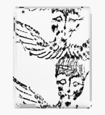 Black & White Abstract Angels iPad Case/Skin