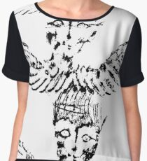 Black & White Abstract Angels Chiffon Top