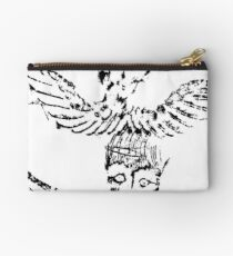 Black & White Abstract Angels Studio Pouch
