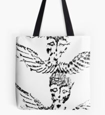 Black & White Abstract Angels Tote Bag