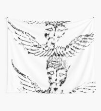 Black & White Abstract Angels Wall Tapestry