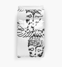 Black & White Abstract Angels Duvet Cover