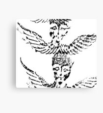 Black & White Abstract Angels Canvas Print