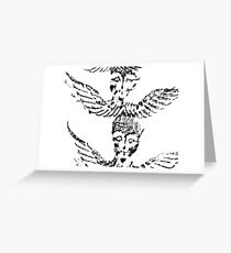 Black & White Abstract Angels Greeting Card