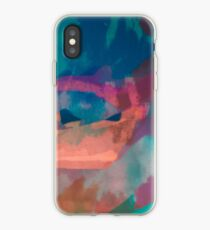 Abstract Laundry Boat in Blue, Green, Orange and Pink iPhone Case