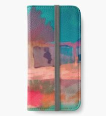 Abstract Laundry Boat in Blue, Green, Orange and Pink iPhone Wallet/Case/Skin