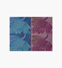 Blue and Purple Abstract Art Board