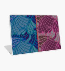 Blue and Purple Abstract Laptop Skin