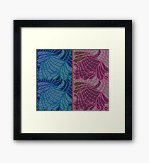 Blue and Purple Abstract Framed Print