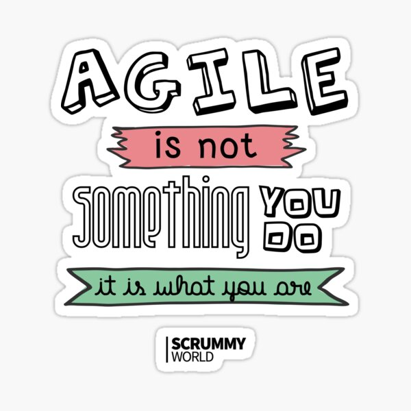 Agile is not something you do, it is what you are Sticker