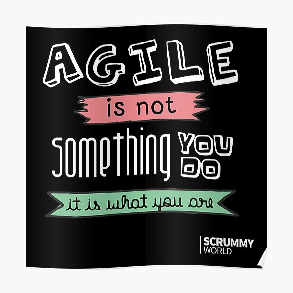 Agile is not something you do, it is what you are Poster