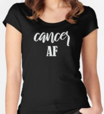 Cancer AF Women's Fitted Scoop T-Shirt