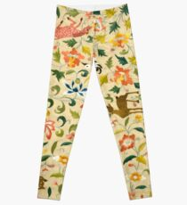 Vintage Flora and Fauna | Flora and Fauna Inspired Gifts Leggings