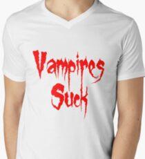 Vampires Suck Twilight Mens V-Neck T-Shirt