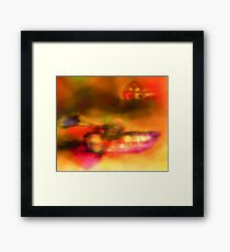 Row Boat in Yellow, Pink and Purple Framed Print