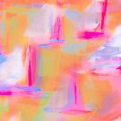 Colorful Abstract Art Sailboat in Pastels by ntartworks