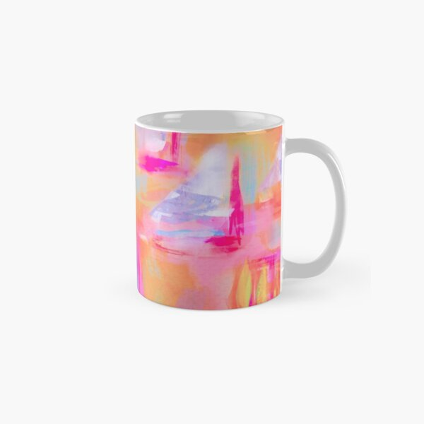 Colorful Abstract Art Sailboat in Pastels Classic Mug