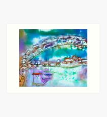 Cape Cod Traffic Jam Abstract Art Art Print