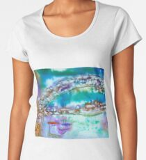 Cape Cod Traffic Jam Abstract Art Women's Premium T-Shirt