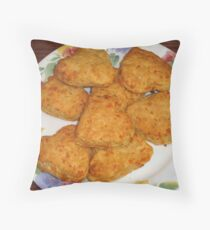 Heart-shaped Biscuits Throw Pillow