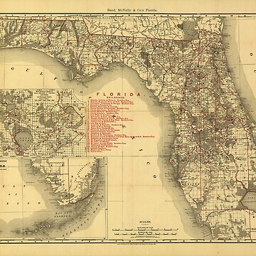 Map of Florida (1900) by allhistory