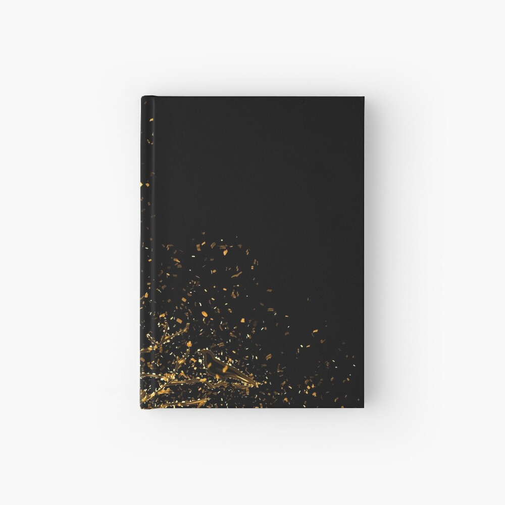 Crow branches golden Gold Cuaderno de tapa dura