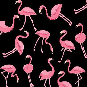 Flamingo Flock Sticker cute by worksaheart
