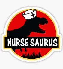 Nurse Saurus Rex Shirt RN Funny Dino T-shirt Sticker