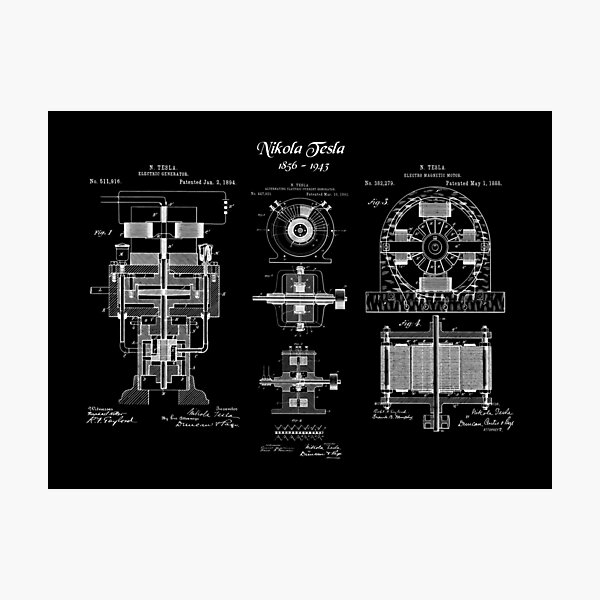 Tesla Alternating Electric Current Generator Poster Prints Engineering Student