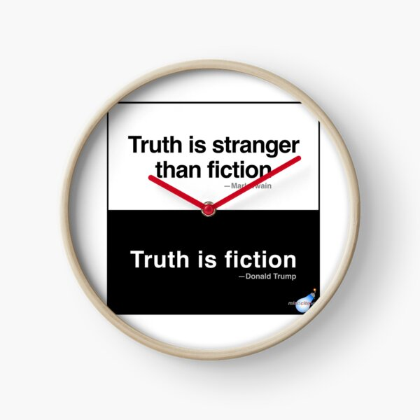 Truth/Fiction Clock
