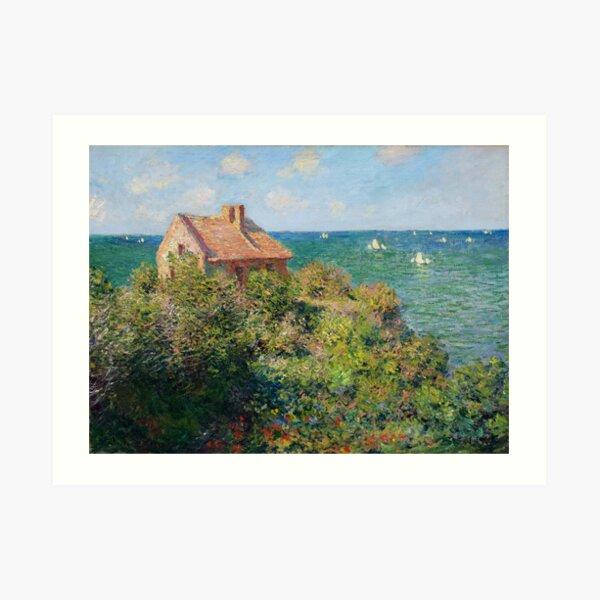 Fishermans Cottage on the Cliffs at Varengeville Claude Monet Art Print