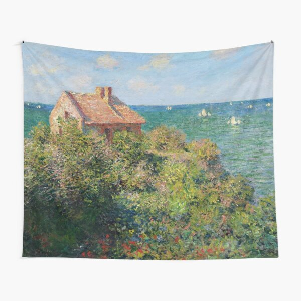 Fishermans Cottage on the Cliffs at Varengeville Claude Monet Tapestry