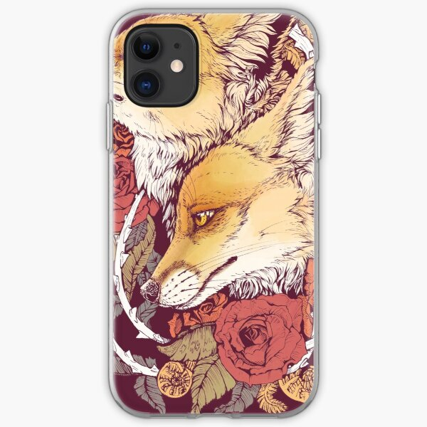 Red Fox Bloom iPhone Soft Case