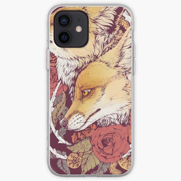Fleur de renard roux Coque souple iPhone