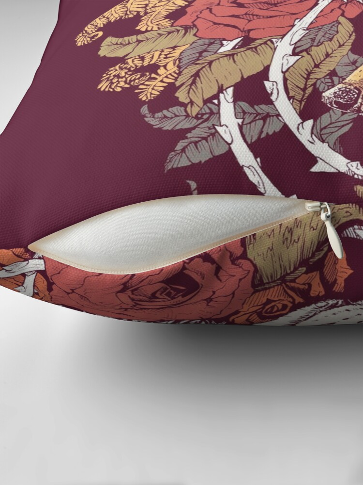 Alternate view of Red Fox Bloom Throw Pillow