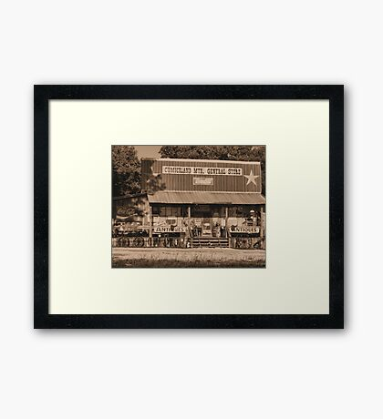 """""""Cumberland Mountain General Store""""... prints and products Framed Print"""