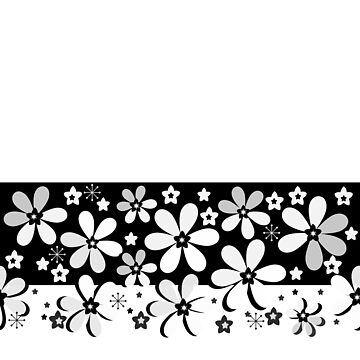 Black and white floral by fuzzyfox