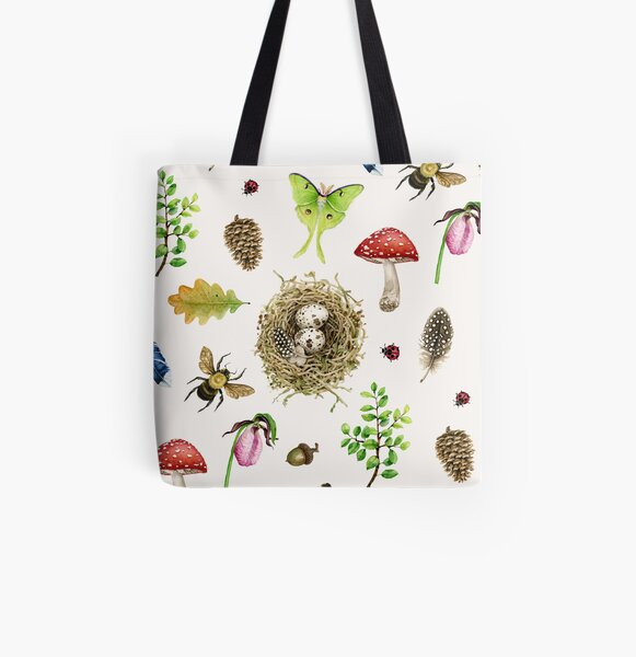 Woodland Study All Over Print Tote Bag
