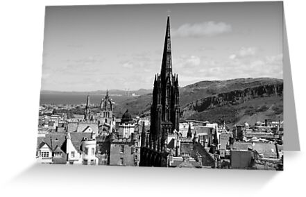 Across the Rooftops Edinburgh style by Martina Fagan